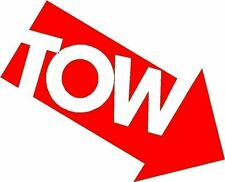 Tow Here Logo Arrow Sticker Decal Graphic Vinyl Label Red