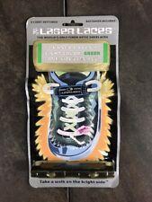Vintage Laser Laces Fiber Optic Shoelaces - Green