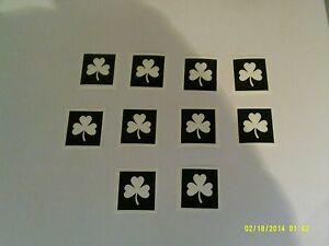 10 - 400 shamrock stencils for etching on glass St. Patricks Day  Irish  Ireland