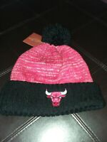 NBA Chicago Bulls Mitchell & Ness Cuffed Pom Knit Hat Beanie OSFA New NWT