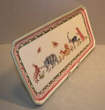 NEW Oblong Serving Tray Jardin Imaginaire Pattern  GIEN