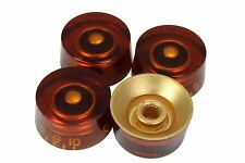 Amber Speed Knobs 4pk for Gibson guitars with US fine splines