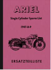 Ariel 350 500 600 CC CC 1 CIL. Cyl RICAMBIO elenco SPARE PARTS catalalogue List