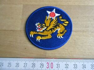US Army Flying Tigers AVG 1942 USAAF Airborne Wings Nose Art Patch Tiger WK2 WWI