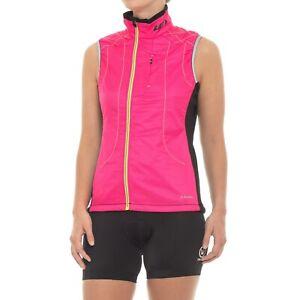 Louis Garneau Women's Alpha Vest Cycling Bike Pink Medium - NWT FREE SHIPPING