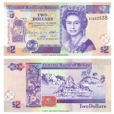 Belize 2 Dollars 2011 P-66d Banknotes UNC