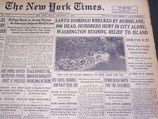 1930 SEPTEMBER 5 NEW YORK TIMES - SANTO DOMINGO WRECKED BY HURRICANE - NT 4934