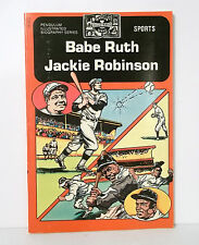 Babe Ruth  Jackie Robinson Illustrated Biographies By Pendulum Press 1970s