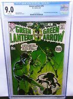 Green Lantern #76 CGC 9.0 VF / NM White Pages DC Bronze Age Key Green Arrow