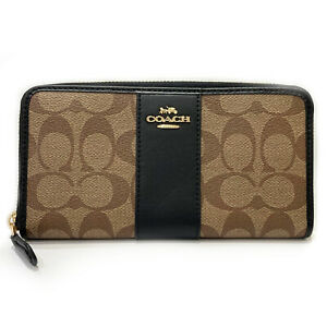 COACH Round purse Round purse F54630 PVC coated canvas Brown Brown Used unisex