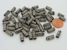 60 perles Tubes 10mm acrylique crème gris DIY création bijoux