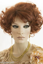 Mid Length Wavy Layered Blonde Blond Red Brown Wigs