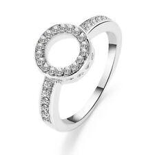 Unisex Wedding Engagement Semi Mount Ring Oval Prong Set Solid Jewelry SH