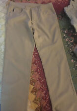 Pre Owned Iceberg Mens Beige Polyester Button Down Pants Size 36/34