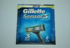 8 Gillette Sensor 3 Refills Blades Sensor Razor Cartridges Shaver USA Authentic
