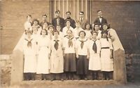 D52/ Shamokin Pennsylvania Pa Real Photo RPPC Postcard c1910 High School Class