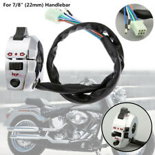 """Motorcycle 7/8"""" Handlebar Horn Button Turn Signal Light Control Switch Plating"""