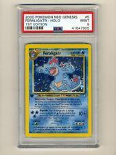 Pokemon PSA 9 Mint Feraligatr 1st Edition Neo Genesis Holo 2000 Card 5/111