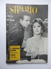 SIPARIO rivista TEATRO CINEMA 1961 nr 179 Gina Lollobrigida Anthony Franciosa