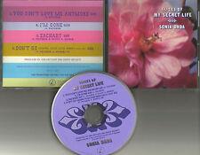 SONIA DADA Slices of My Secret life 4TRX w/ RARE RADIO EDIT PROMO DJ CD single