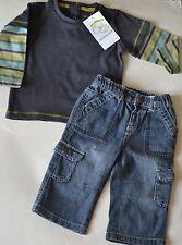 Ensemble VERT BAUDET 2 pièces: pantalon, pull NEUF garçon 9 mois (71 cm)