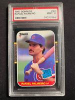 1987 DONRUSS RAFAEL PALMEIRO #43 PSA MINT 9 CHICAGO CUBS