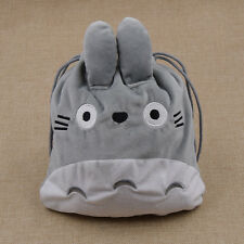 Drawstring Bag Short Plush Handbag Totoro Collectable Storage Bag Anime Kids