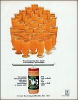 1963 Tang instant breakfast drink 35 glasses orange vintage photo print Ad adL37