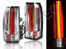 2015-2018 GMC Yukon XL SUV Chrome Full LED Tail Lights Lamps RH + LH