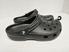 Crocs Classic Clogs, Black, Womens 8 M