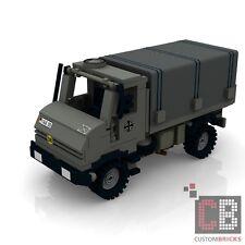 CUSTOM PDF Bauanleitung Bundeswehr 2t U-1300L Unimog MW für LEGO® Steine