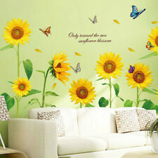 Sunflower Wall Sticker PVC Waterproof Self-adhesive Decals Home Bedroom Decors