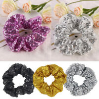 Sequin Women Scrunchie Glitter Hair Ties Ponytail Holder Rope Elastic Hair Bands
