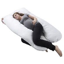 Full Body Maternity Contoured U Body Pillow Pregnancy Acid Reflux Cover
