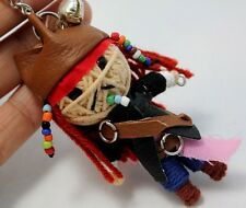JAK SPARROW VOODOO KEYCHAIN KEY RING  HANDCRAFT HANDMADE STRING DOLL TOY Pirate