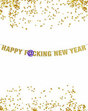 Happy F*cking New Year Banner, Glitter Banner, Photo Prop, New Year Banner Decor