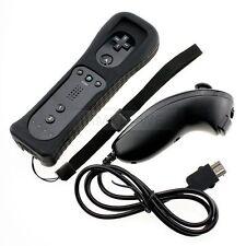 Schwarz/Weiß Nintendo Wii Remote Fernbedienung & Wiimote Nunchuk Controller Set