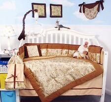 CRIB BEDDING SET GOLDEN DRAGONS Infant Baby Unisex Nursery 13 Pc Quilt Sheet+