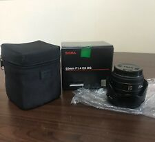 Sigma 50mm F1.4 EX DG Lens (Canon mount) boxed (used) - PRICE LOWERED