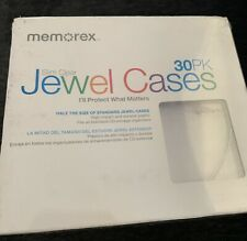 Memorex 30PK Slim Clear Jewel Cases Pack CD / DVD High Impact Durable - Sealed
