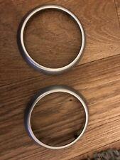 Toyota Aygo, Citroen C1 , Peugeot 107 Heater Vent Rings X2 In Metallic Silver