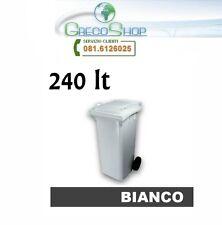 Pattumiera/Cassonetto/Bidone per raccolta rifiuti uso esterno 240 litri White