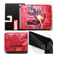 Stylish NEW Marvel Comic Flying Deadpool Zap Spark Gun Bi Fold Wallet