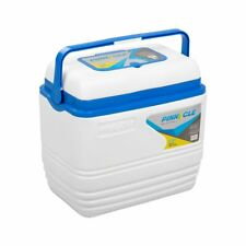 Voyager Portable White Cooler 31.7 qt Big Camping Traveling Outdoor Ice Cooler