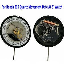 Pour Ronda 515 Quartz Date Du Mouvement À 3 'Montre Pièces De Rechange