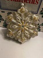 Brillanti Fiocco di Neve Vetro Deluxe Natale Hallmark Ricordo Ornamento Nuovi
