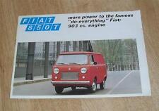 Fiat 850T Van Brochure 1972