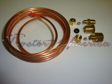 "Oil Pressure Gauge Copper Tubing Line Kit 6' x 1/8"" OD fits Ford Tractors"
