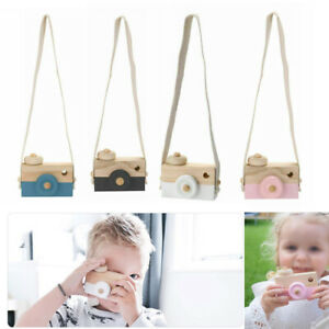 Children Room Wood Camera Decor Natural Safe Wooden Toy Painted Nursery Toys UK