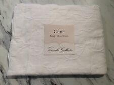 Gana King Pillow Sham New Nwt Veranda Galleries White